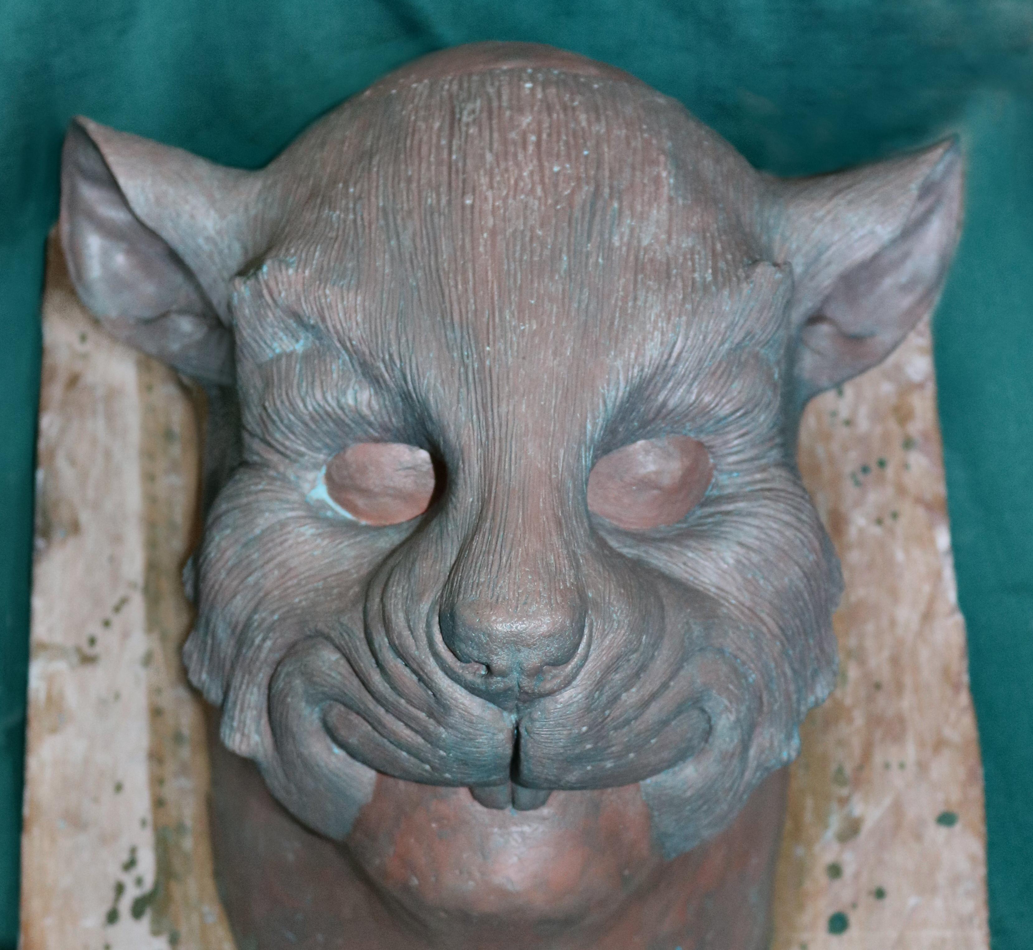 Riverbank Ratty mask sculpture 01