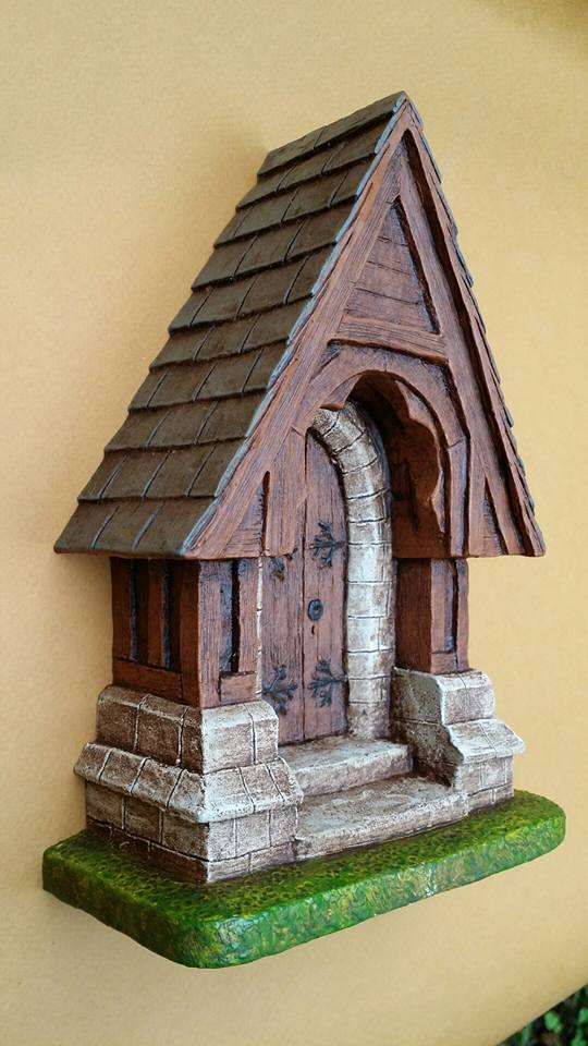 Fairy Door - Church Door Style left profile